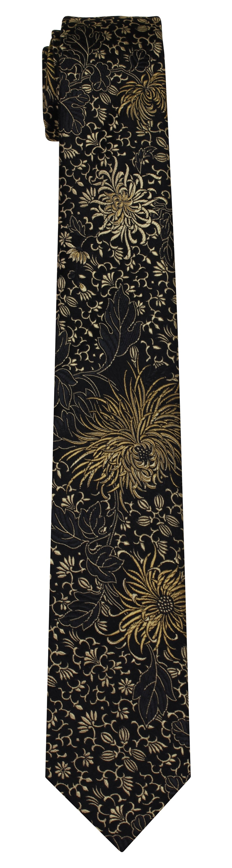 Mimi Fong Leaf & Mum Tie in Black