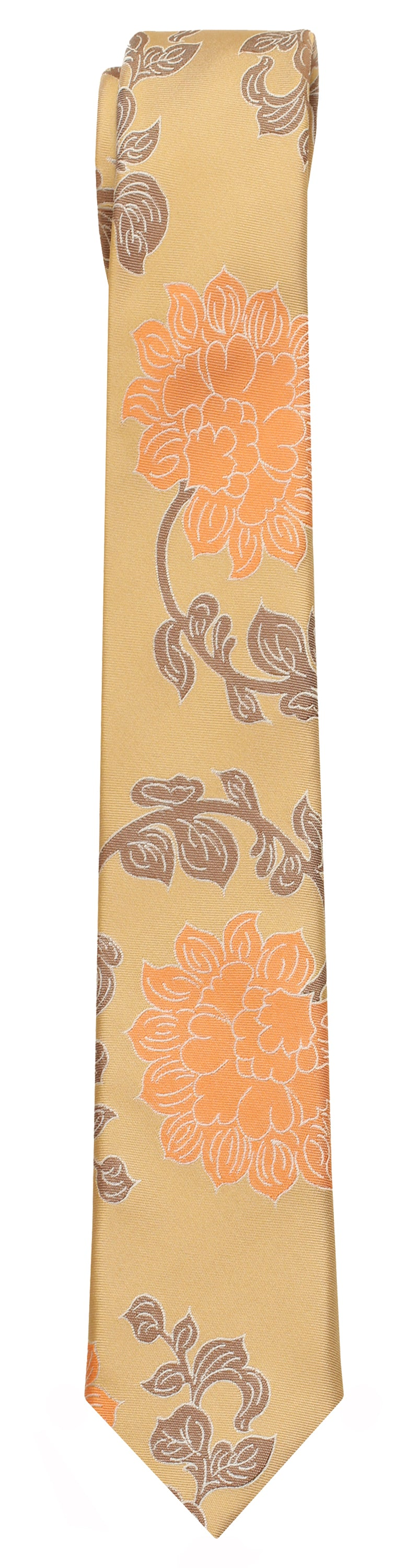 Mimi Fong Lotus Tie in Gold