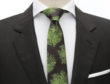 Mimi Fong Moss Tie in Chocolate