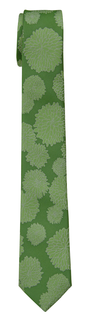 Mimi Fong Mums Tie in Ivy