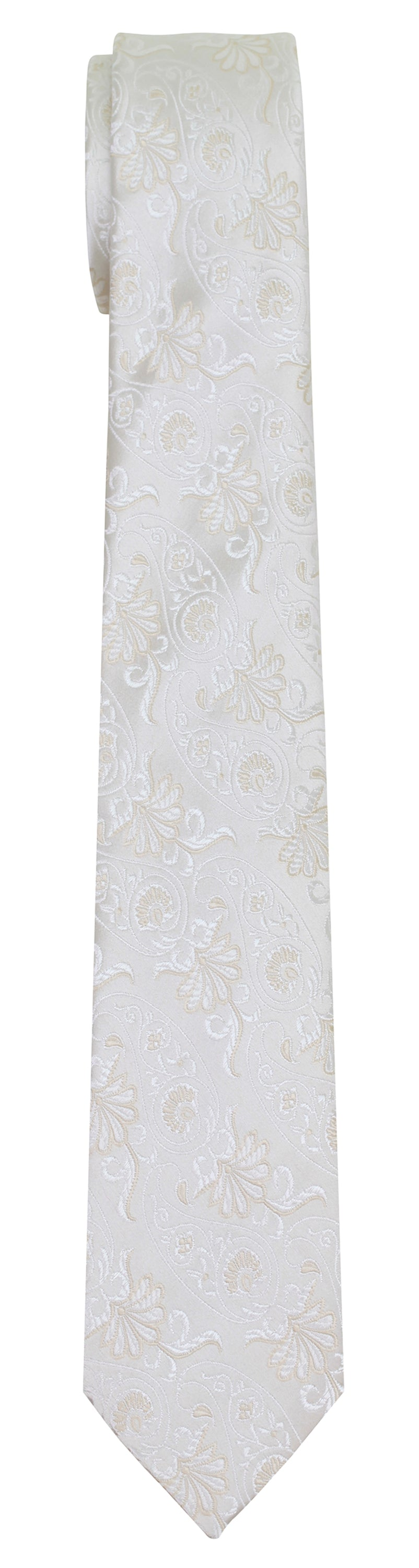 Mimi Fong Paisley Tie in White