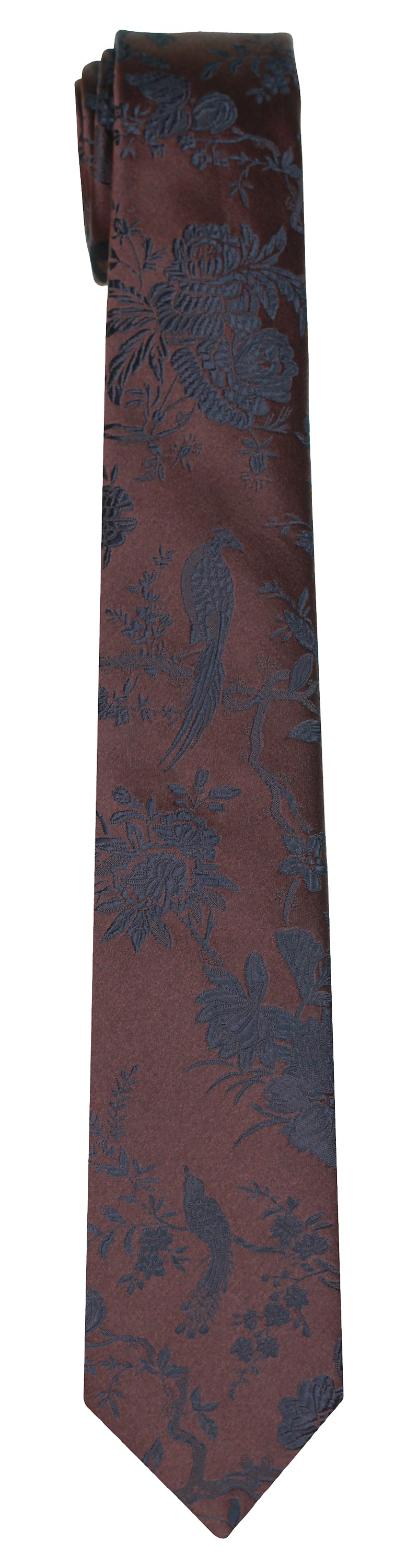 Mimi Fong Quail Tie in Chocolate