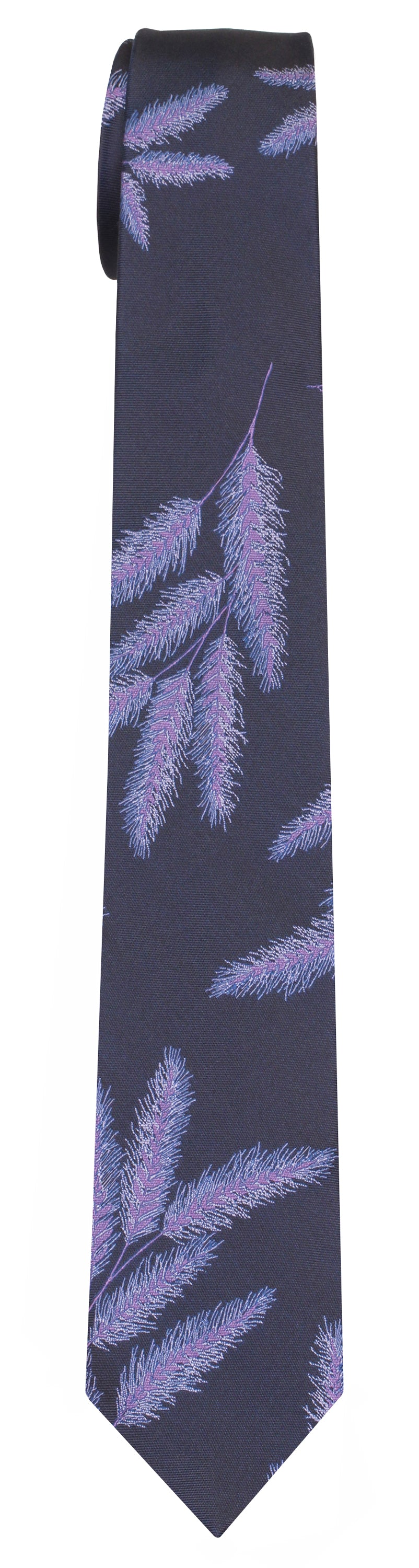Mimi Fong Reeds Tie in Navy & Periwinkle