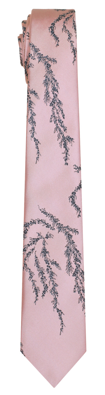 Mimi Fong Seaweed Tie in Light Pink