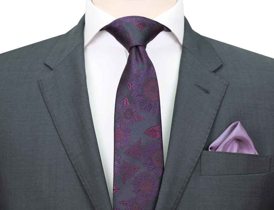 Mimi Fong Sunflower Tie in Amethyst