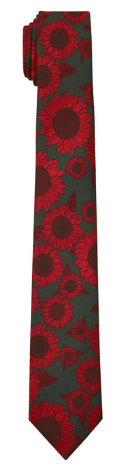 Mimi Fong Sunflower Tie in Charcoal