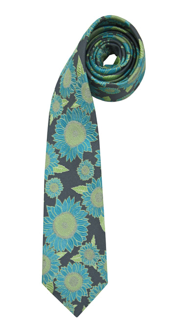 Mimi Fong Sunflower Tie in Grey