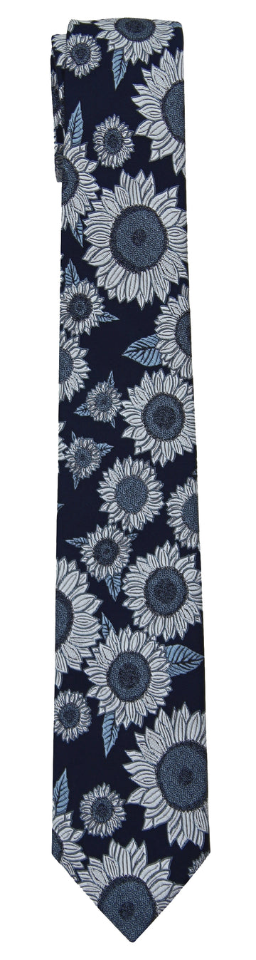Mimi Fong Sunflower Tie in Ink