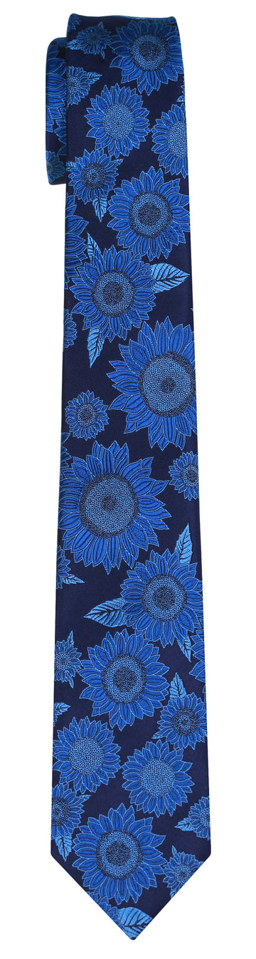 Mimi Fong Sunflower Tie in Pacific