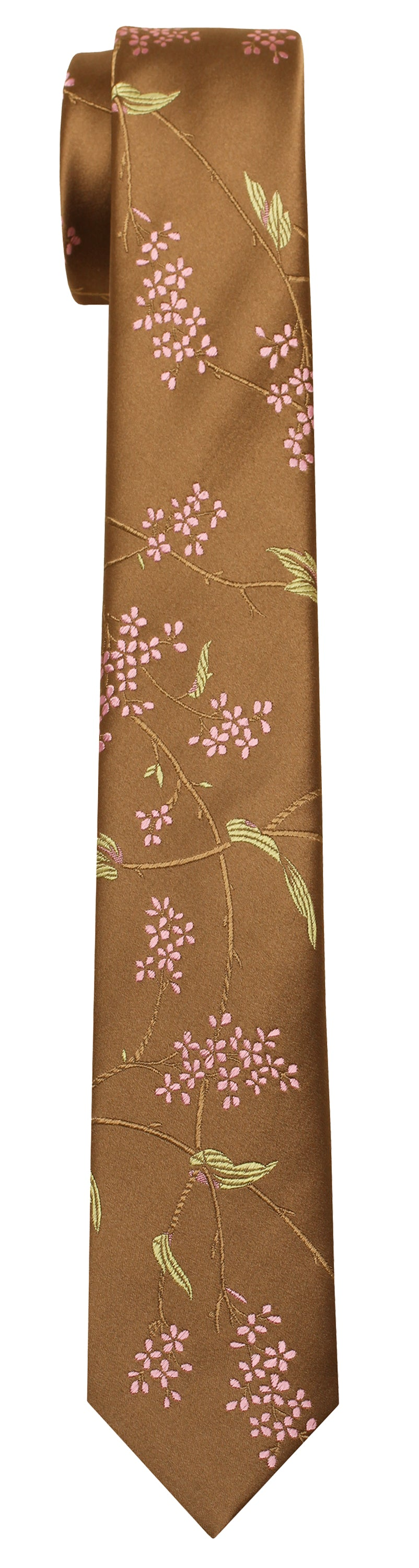 Mimi Fong Leaf & Twig Tie in Biscuit