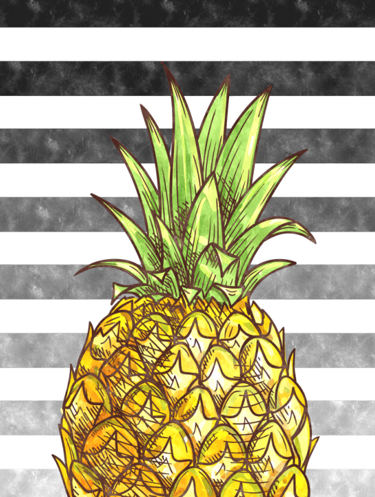 Pineapple Hospitality Symbol Home Art Wall Decor Canvas Print ...