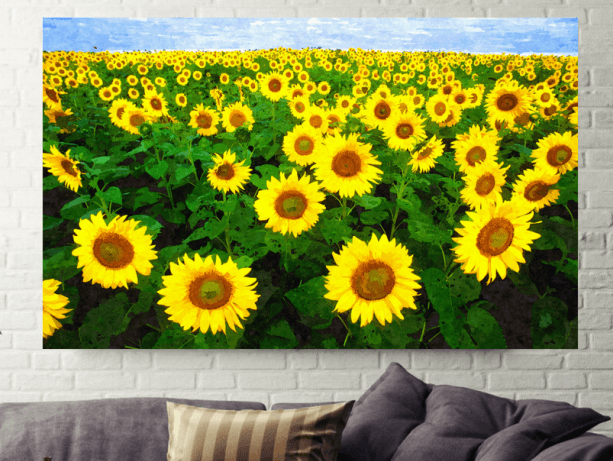 Sunflower Field Wall Decor Art Canvas Print – Inspired Art Store