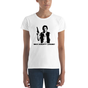Who's Scruffy Looking? Women's short sleeve t-shirt