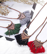 Pyramid Tassel Choker Necklace