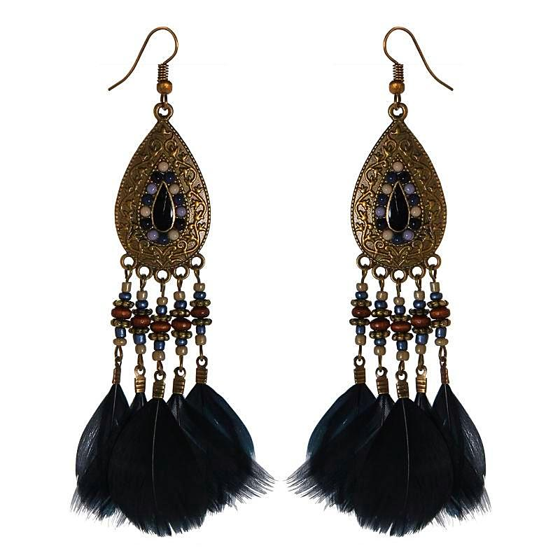 Coco Cay Feather Earrings