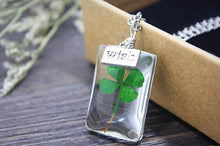 Shamrock Lucky Charm Wish Pendant Necklace