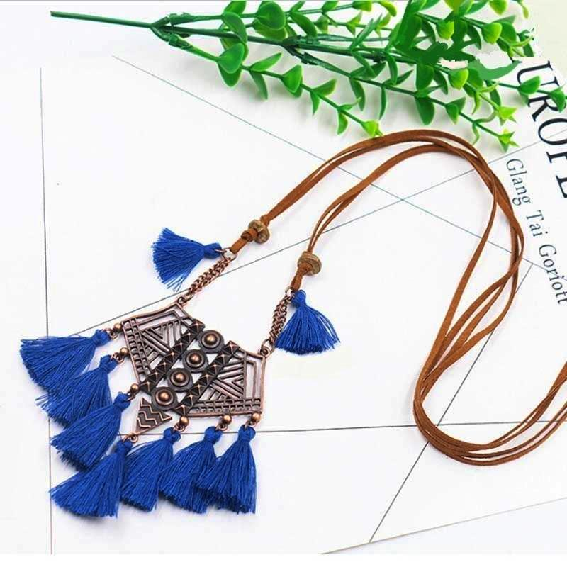 Mermaid Tassel Choker Necklace