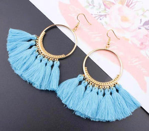 Mermaid Dream Tassel Earrings