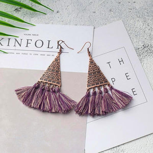 Barbados Tassel Earrings KEISELA