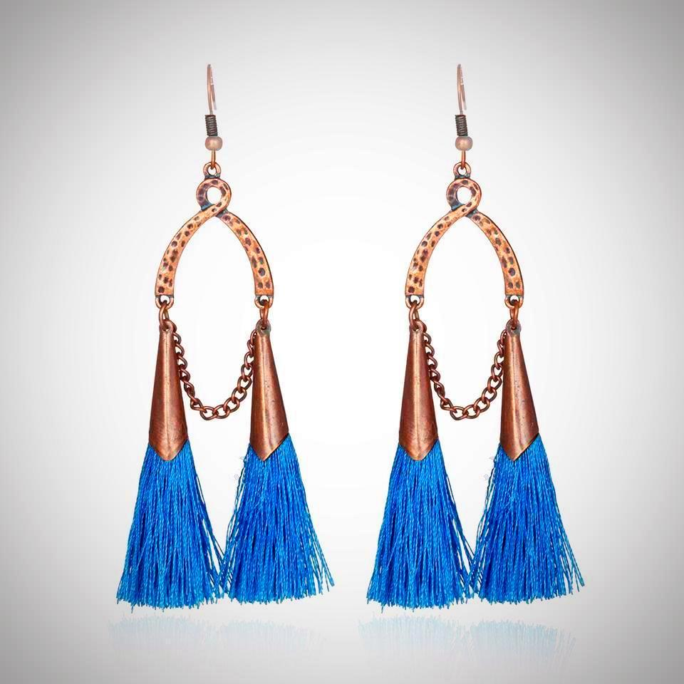 Mermaid Island Tassel Earrings