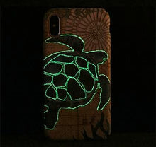 Nautical Sea Turtle Glow iPhone Case