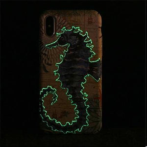 Nautical Seahorse Glow iPhone Case