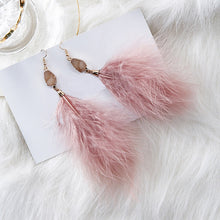 Candy Crystal Feather Earrings