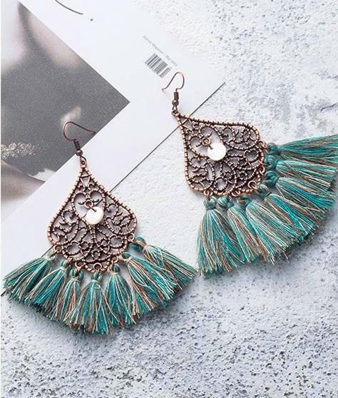 Mermaid Mar Tassel Earrings