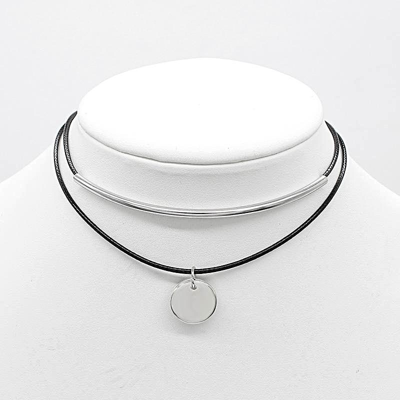 Circle Double-Layer Choker Necklace