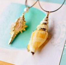 Mermaid Spiral Conch Seashell Pendant Necklace