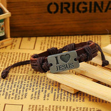 I Love JESUS Leather Cuff Bracelet