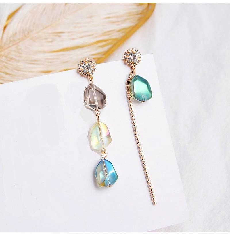 Sea Iridescent Crystal Earrings