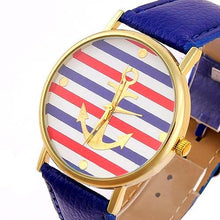 Nautical Blue Leather Watch