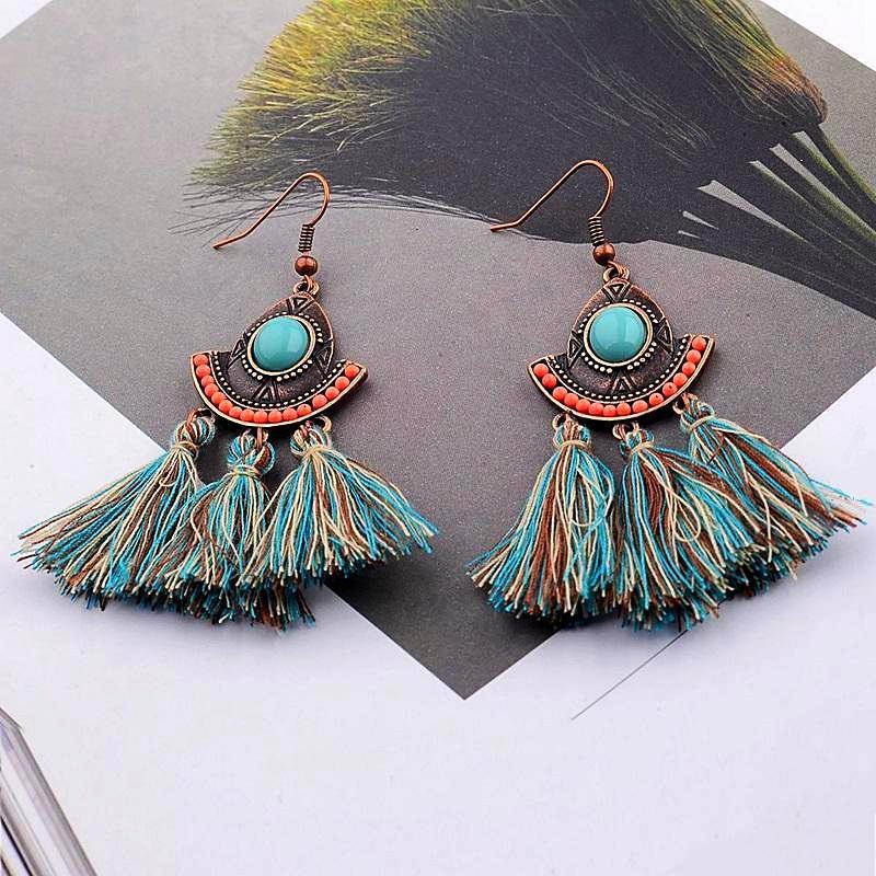 Havana Tassel Earrings