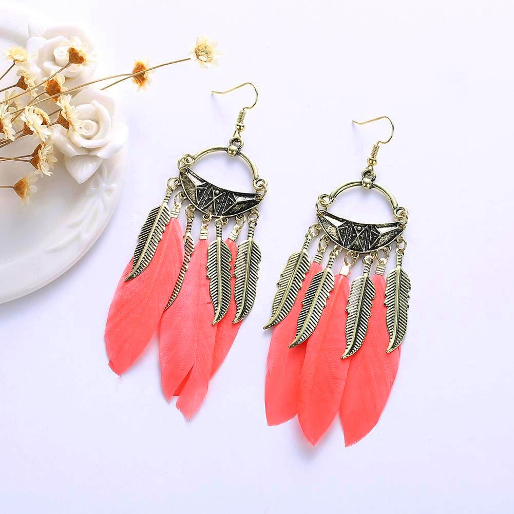 Island Vibe Feather Earrings