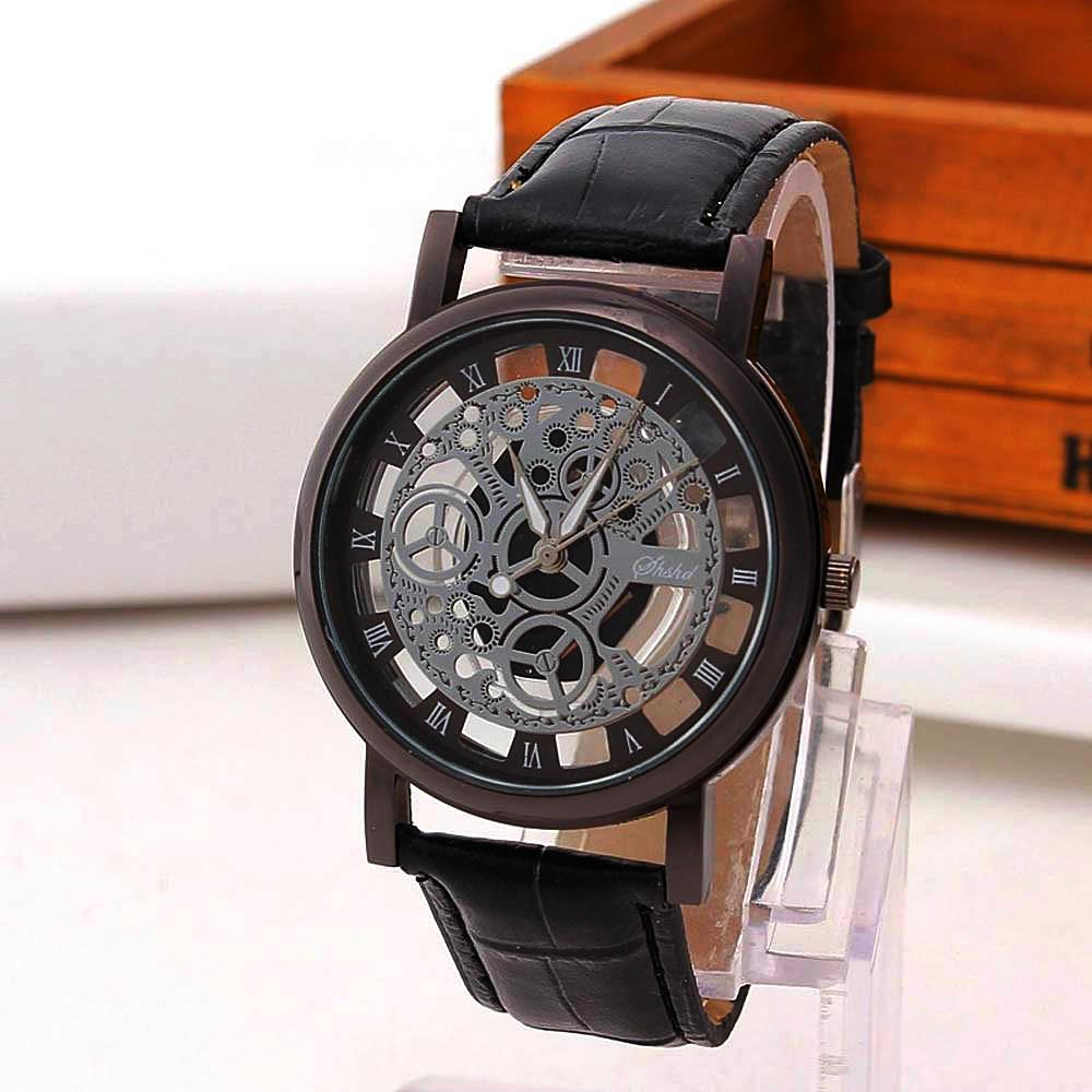 Nautical Skeleton Leather Watch