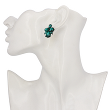 Emerald Crystal Stud Earrings