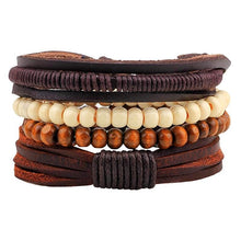 Surfer Bead Leather Bracelet