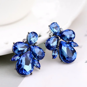 Sapphire Crystal Stud Earrings