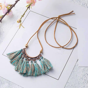 Arch Tassel Choker Necklace