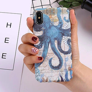 Nautical Octopus Glow iPhone Case