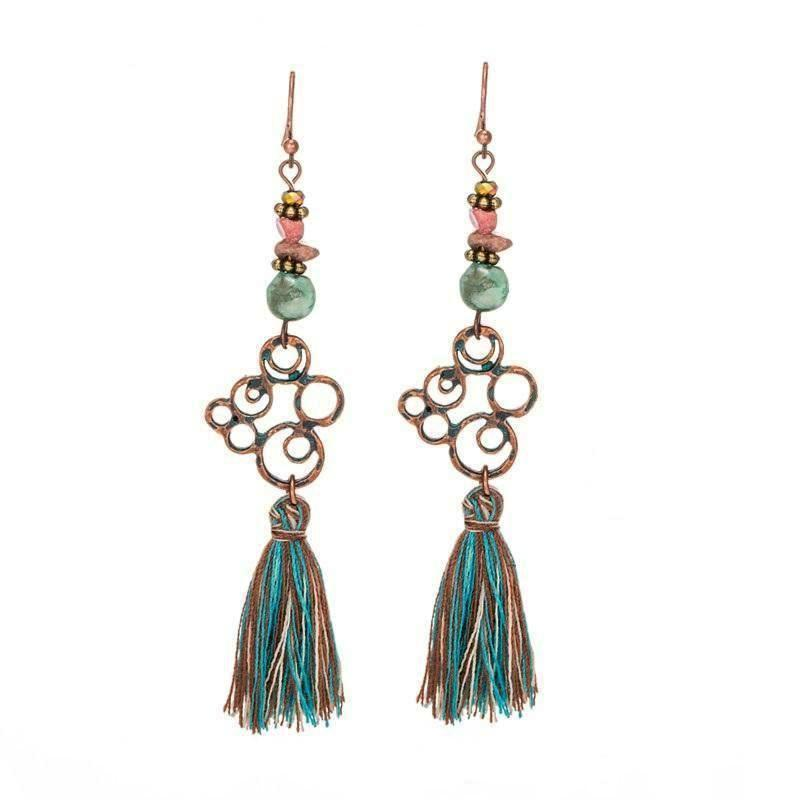 Amazon Tassel Earrings