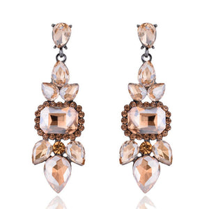 Topaz Crystal Chandelier Earrings