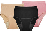 Seamless Reusable Incontinence Panties-3 Pack