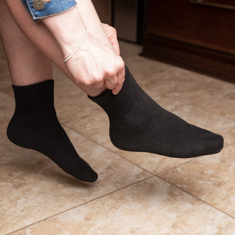 Diabetic Ankle Socks-Quarter Length Socks