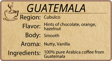 Load image into Gallery viewer, 100% Guatemalan - 1 Pound