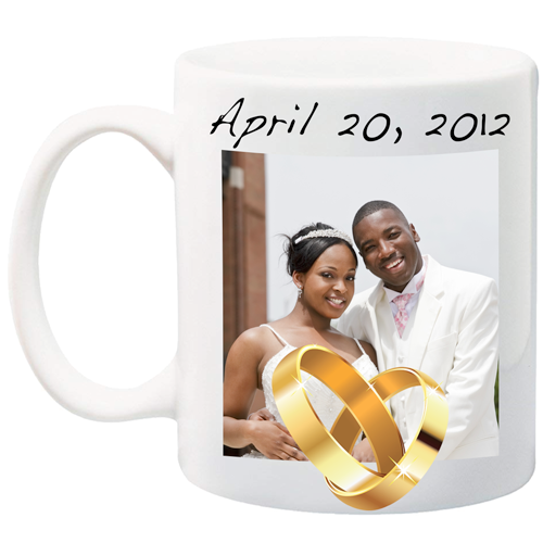 Customizable Wedding Ring Mug