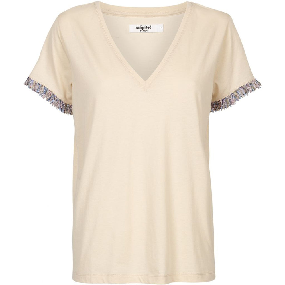 Unlimited Edition Fringes T-shirt Pink Tint