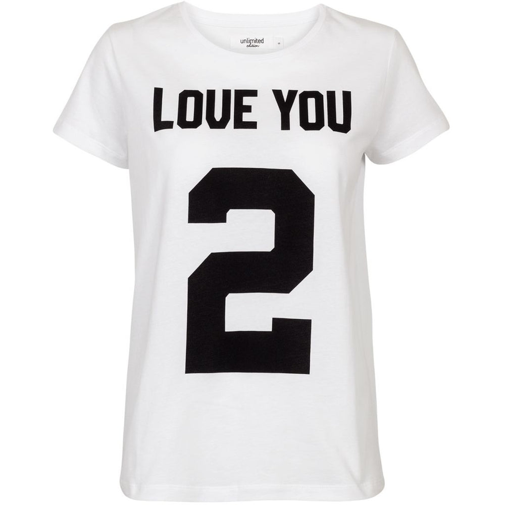 Unlimited Edition Love you 2 T-shirt White