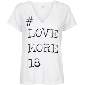 Unlimited Edition #love more T-shirt White